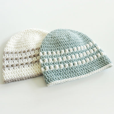 Puff Stitch Baby Hat Crochet Pattern
