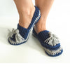 Tassel Slip-on Slippers Crochet Kit