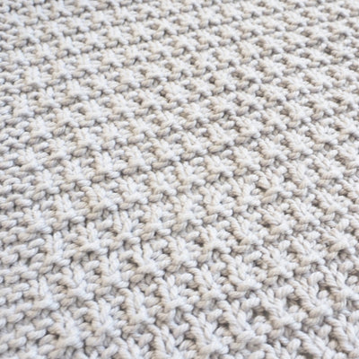 Rib Ridge Dishcloth Knit Pattern