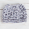 Seashore Messy Bun Hat Crochet Pattern