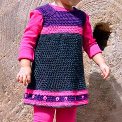 Ella Toddler Dress Crochet Pattern