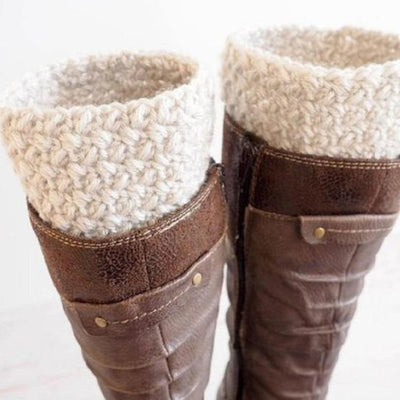 Elizabeth Stitch Boot Cuff Crochet Pattern