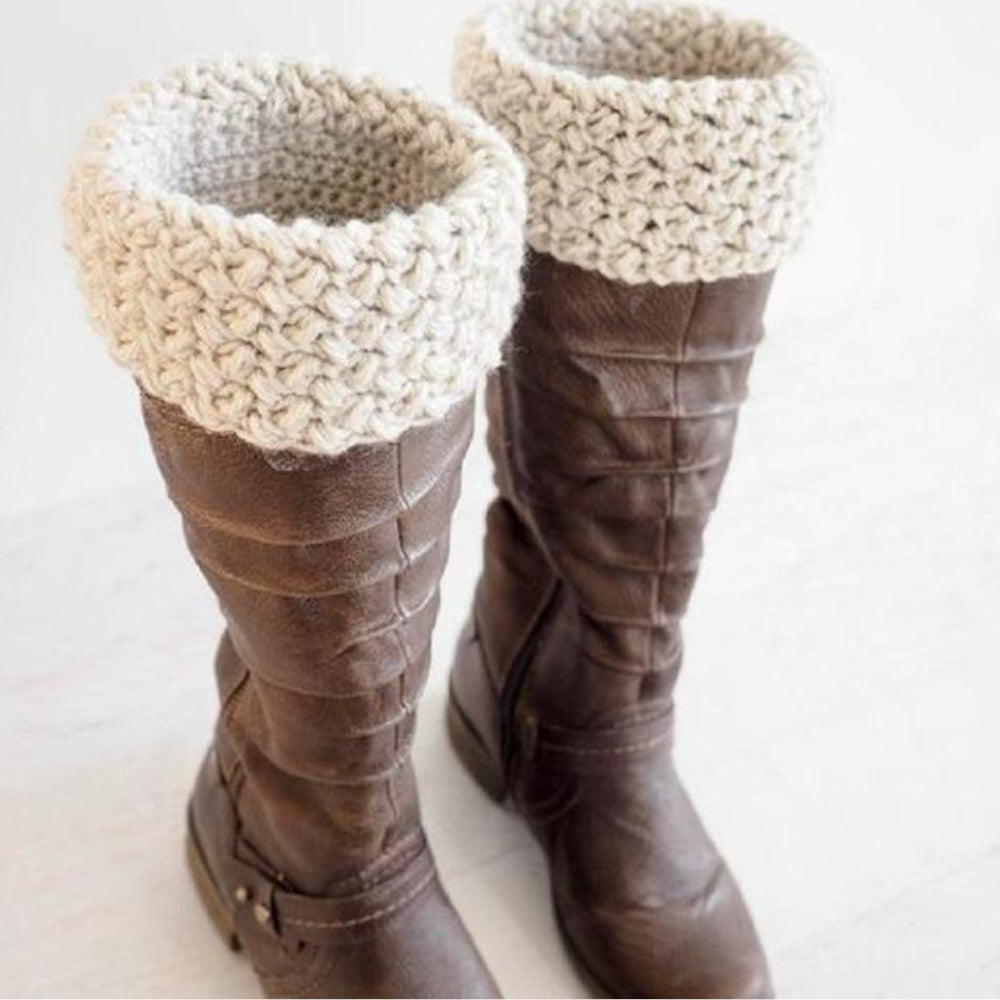 Elizabeth Stitch Boot Cuff Crochet Pattern Dollar Yarn Club Store