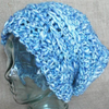 Fluffy Blue Sky Slouch Crochet Pattern