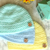 Front Loop Newborn Hat Crochet Pattern