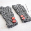 Aligned Cobble Stitch Fingerless Gloves Crochet Kit