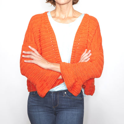 Cute Flare Sleeve Cardigan Crochet Pattern