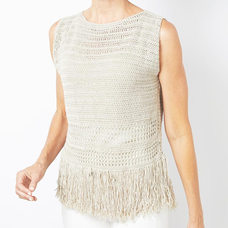 Fringe Tank Top Crochet Pattern Makerdrop