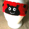 Ladybug Ear Warmers Crochet Pattern