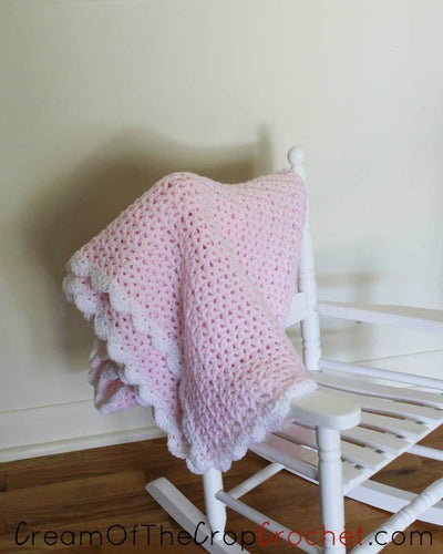 Lacy Loves Lace Baby Blanket Crochet Pattern