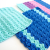 Tulip Textured Dishcloth Crochet Pattern