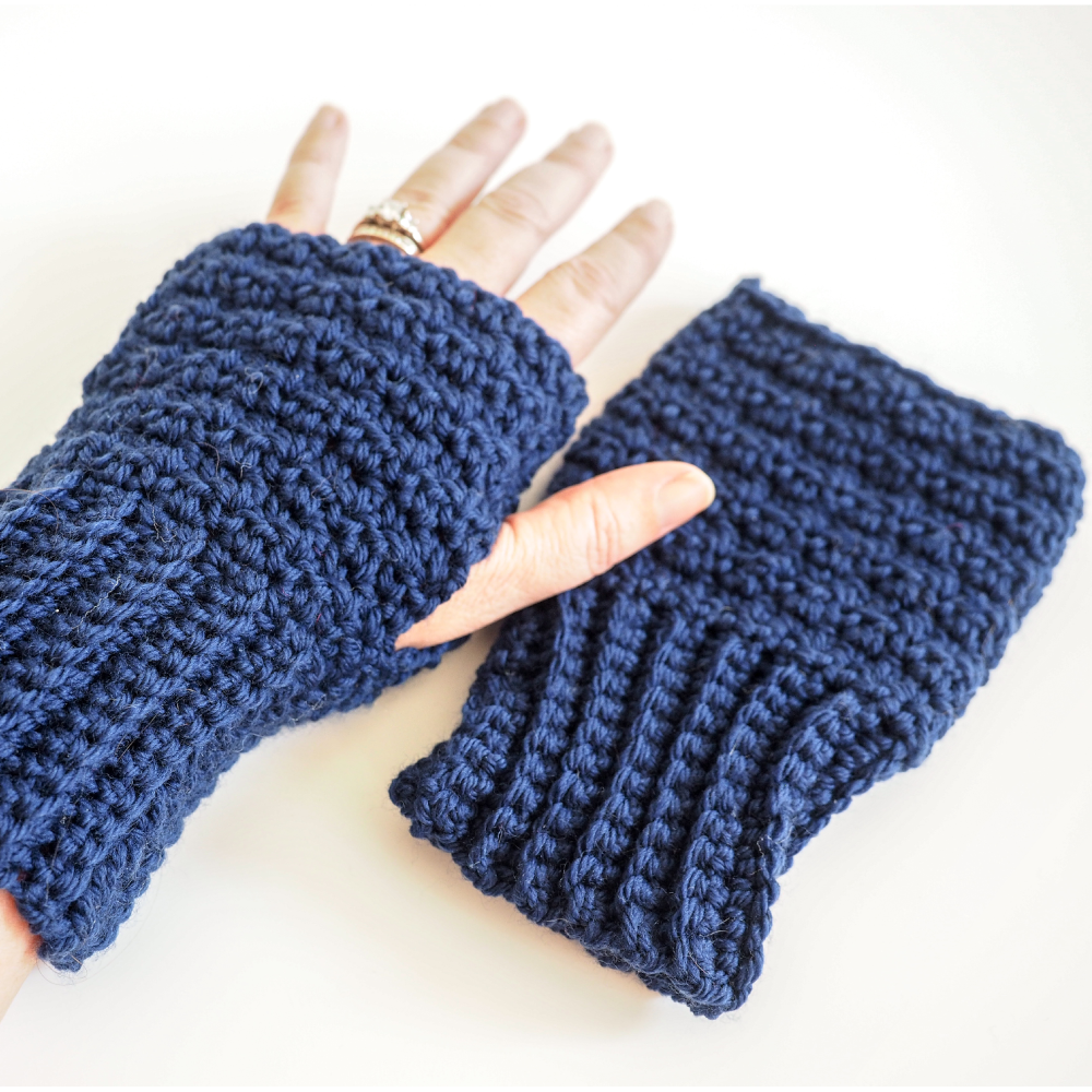 Lemon Peel Fingerless Gloves Crochet Pattern Dollar Yarn Club Store