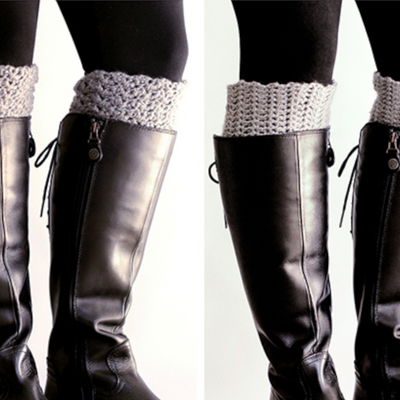 Reversible Boot Cuff Crochet Pattern