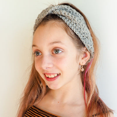 Twisted Mixed Cluster Headband Crochet Pattern
