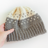 Two Two Fair Isle Beanie Hat Crochet Pattern
