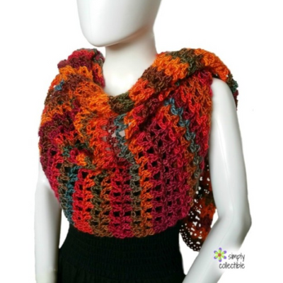 Coraline in Rio Mini Shawl Crochet Pattern