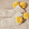Pom Pom Slippers Crochet Pattern