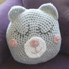 Girls Sleepy Teddy Pillow Crochet Pattern
