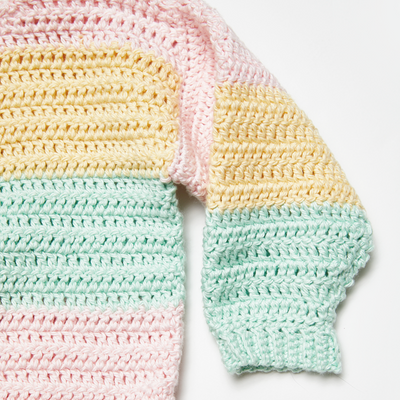 Children's Pastel Stripes Sweater Crochet Kit