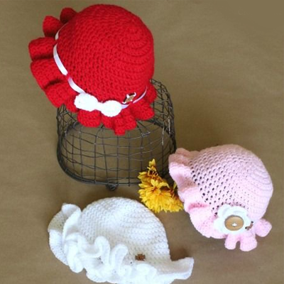 Newborn Ruffle Hat Crochet Pattern