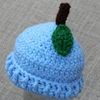 Preemie Newborn Blueberry Hat Crochet Pattern