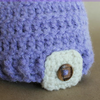 Preemie Newborn Button Tab Hat Crochet Pattern