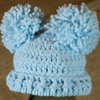Preemie Newborn Double Pom Pom Hat Crochet Pattern