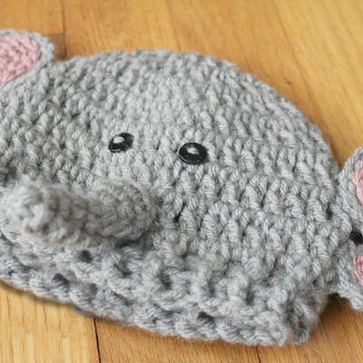 Crochet Baby Elephant Hat Beanie Diaper Cover Set Newborn Infant ... | 400x400