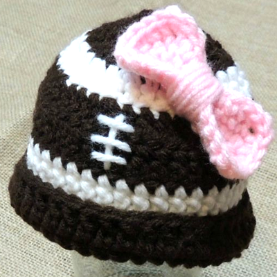 Preemie Newborn Football Hat Crochet Pattern
