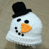 Preemie Newborn Snowman Top Hat Crochet Pattern