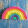 Rainbow Daze Washcloth Dishcloth Crochet Pattern