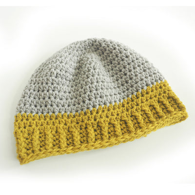 Adult Duo-Tone Beanie Crochet Pattern
