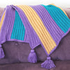 Bright Stripe Blanket Crochet Kit