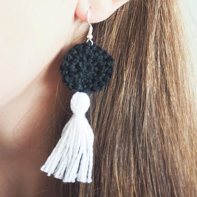 Easy DIY Tassel Earrings Crochet Pattern