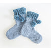 Pom Pom Slipper Socks Crochet Pattern