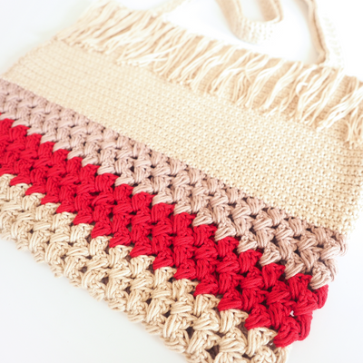 Fringe Shopping Bag Crochet Pattern