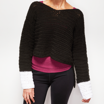 Wide Sleeve Sweater Crochet Pattern