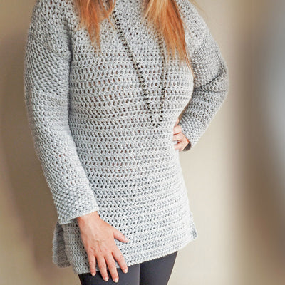 Mesh Stitch Sweater Crochet Kit