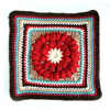 "Whimsical Penelope's 12"" Square Crochet Pattern"