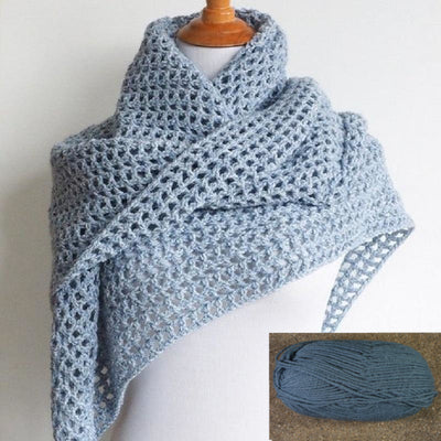 Wine Country Triangle Shawl Crochet Kit