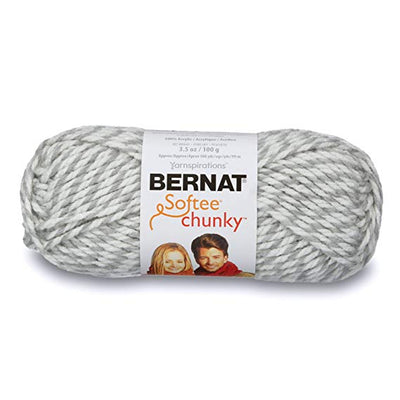 Bernat Softee Chunky Yarn - Grey Ragg