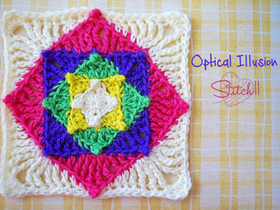 Optical Illusion Square Crochet Pattern