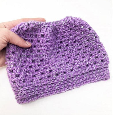 Easy Peasy Messy Bun Hat Crochet Pattern