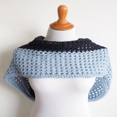 Two Toned Infinity Scarf Crochet Pattern