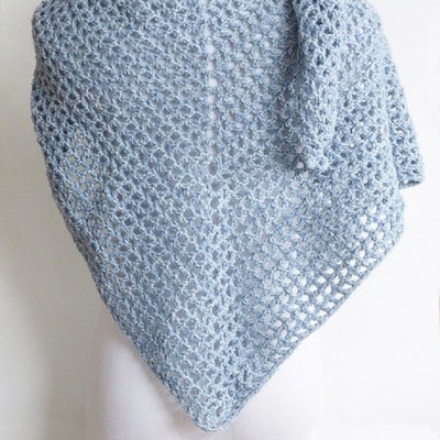 Wine Country Triangle Shawl Crochet Pattern