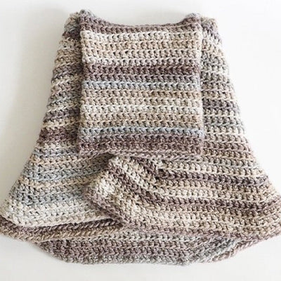 Cowl Hooded Poncho Crochet Pattern