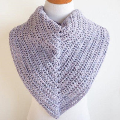 Easy Everyday Triangle Scarf Crochet Kit