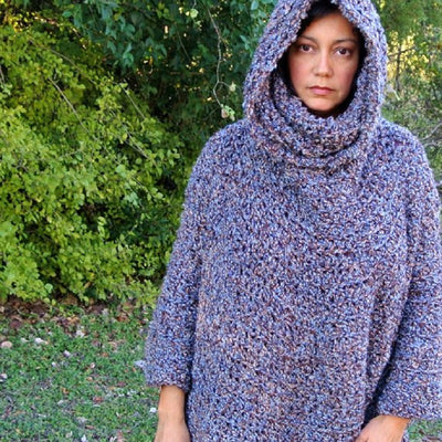 Hooded Cowl Poncho Pattern
