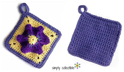 Penelope's Pretty Petunia Potholder Flower Crochet Pattern