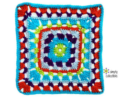 Penelope's Skipping Stones 12 inch Square Crochet Pattern